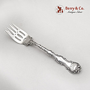 Strasbourg Pastry Fork Monogrammed Gorham Sterling Silver Patented 1897