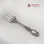 Small Lucerne Chipped Beef Fork Wallace Sterling Silver 1896