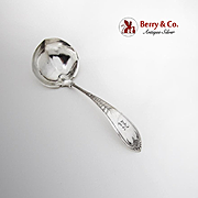 Engraved Palm Gravy Ladle Monogram Gorham Sterling Silver Patented 1871