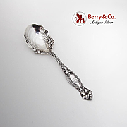 Frontenac Sugar Spoon Ornate Bowl International Sterling Silver Patented 1903