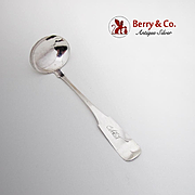 Coin Silver Sauce Ladle Monogram Perry Gallup Tanner Cooperstown NY 1855