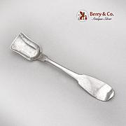 Vintage Sugar Shovel W Pitkin Coin Silver 1860
