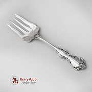 Debussy Cold Meat Fork Towle Sterling Silver 1959