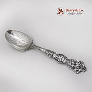 Zodiac Souvenir Spoon Los Angeles Engraved Bowl Wallace Sterling Silver