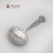 Tiffany Co Figural Holly Mistletoe Tea Caddy Spoon Sterling Silver 1885