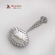 Tiffany Co Figural Holly Mistletoe Tea Caddy Spoon Sterling Silver 1885