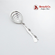 Asymmetric Shell Scroll Serving Spoon Fluted Bowl G W Shiebler Sterling Silver 1880