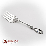 Lucerne Large Fish Salad Serving Fork Wallace Sterling Silver 1896