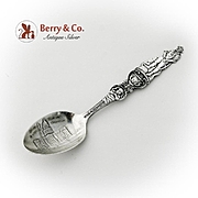 Colorado Souvenir Spoon Gold Miner Figure Sterling Silver