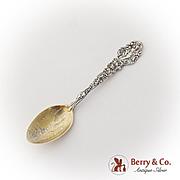 Versailles Souvenir Coffee Spoon Gilt Bowl Sterling Silver Gorham 1885