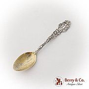 Versailles Souvenir Coffee Spoon Gilt Bowl Sterling Silver Gorham 1885