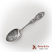 Vintage Chicago Souvenir Spoon Embossed Bowl Wallace Sterling Silver