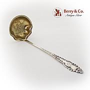 La Fayette Cream Ladle Ornate Gilt Bowl Baker Manchester Sterling Silver 1898