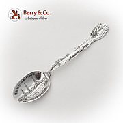 California Souvenir Spoon Embossed Bowl Paye And Baker Sterling Silver