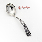 Flora Buttercup Gravy Ladle Shiebler Sterling Silver 1889