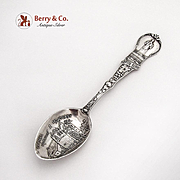 Carmel Mission California Souvenir Spoon Watson Co Sterling Silver