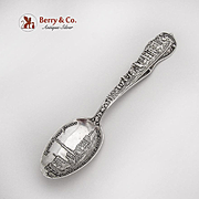 Rare San Francisco Fire Souvenir Spoon Watson Co Sterling Silver