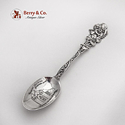 Carmel Mission Souvenir Spoon Yellow Poppy Pattern Paye And Baker Sterling Silver