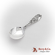 Mr Stork Baby Spoon Weidlich Silver Co Sterling Silver 1930