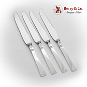 Sunset Dinner Knives Set Allan Adler Sterling Silver 1950