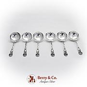 Lily Bouillon Spoons Set Watson Sterling Silver 1902