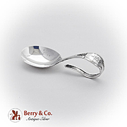 Belleflowers Baby Spoon Curved Handle Sterling Silver 1930
