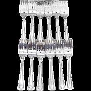 Etruscan Pastry Forks Set Gorham Sterling Silver Pat 1913