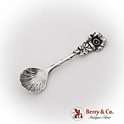 Harlequin Salt Spoon Shell Bowl Reed And Barton Sterling Silver