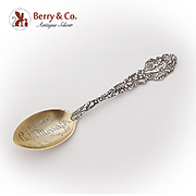 Versailles Souvenir Spoon Gilt Engraved Bowl Gorham Sterling Silver 1888