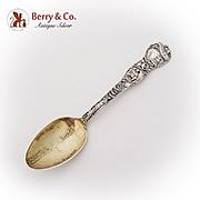 San Francisco California Souvenir Spoon Gilt Bowl Watson Co Sterling Silver