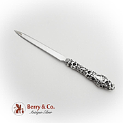 Lily Letter Opener Stainless Steel Blade Whiting Gorham Sterling Silver