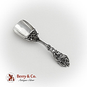 Openwork Floral Scroll Tea Caddy Scoop Sterling Silver