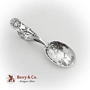 Cupid Floral Baby Spoon Embossed Bowl Watson Sterling Silver Pat 1899