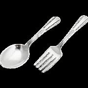 Art Deco Scroll Baby Flatware Set Fork Spoon Webster Sterling Silver 1940