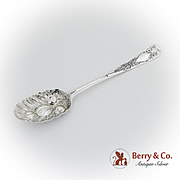 Irish Tablespoon Repousse Bowl Engraved Handle Sterling Silver 1735