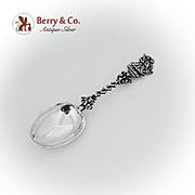 Dutch Marriage Spoon Figural Cast Handle 833 Standard Silver 1882