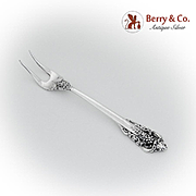 Grande Baroque Two Tine Pickle Fork Wallace Sterling Silver 1941