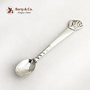 Tiffany Co Infant Feeding Spoon Baseball Motif Figural Handle Sterling Silver