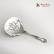 La Reine Bon Bon Candy Nut Spoon Pierced Bowl Wallace Sterling Silver 1921