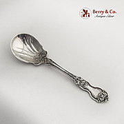 La Reine Sugar Spoon Ornate Bowl Wallace Sterling Silver 1921