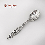 Lily Of The Valley Sugar Spoon Decorated Shell Bowl Whiting Sterling 1885
