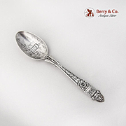 NY National Guard 23rd Regiment Armory Souvenir Spoon Gorham Sterling Silver