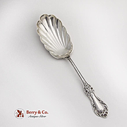 Wild Rose Berry Spoon Shell Bowl International Sterling Silver 1948