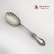 Wild Rose Sugar Spoon Shell Bowl International Sterling Silver 1948