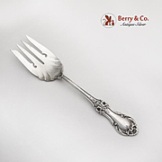 Wild Rose Cold Meat Fork Fluted International Sterling Silver 1948