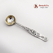 Vine Wild Rose Master Salt Spoon Gilt Bowl Tiffany Co Sterling Silver 1872