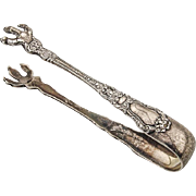 Baronial Old Sugar Tongs Gorham Sterling Silver Pat 1898