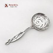 Art Nouveau Woven Fronds Bon Bon Candy Nut Spoon Towle Sterling Silver