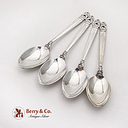 Royal Danish Demitasse Spoons Set International Sterling Silver 1939