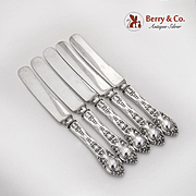 Athenia Luncheon Dessert Knives Set Wendell Sterling Silver 1890